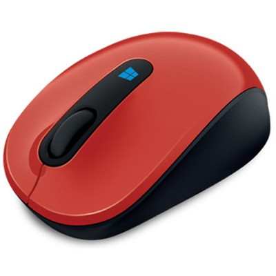 Microsoft 43U 00023 Sculpt Mobile Mouse Mouse optical 3 buttons wireless 2.4 GHz USB wireless receiver flame red