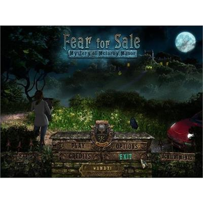 Big Fish Games ONSNENFRFSLE ESD Fear For Sale Mystery Of Mcinory Manor Win Electronic Software Download Version