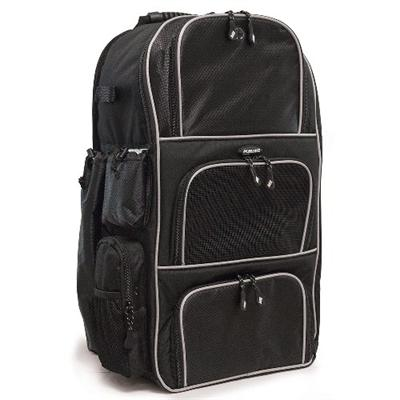 Mobile Edge Me-bb12 Deluxe Baseball / Softball Gear Bag - Black / Silver