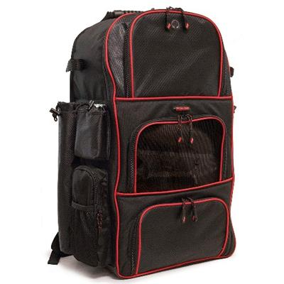 Mobile Edge Me-bb17 Deluxe Baseball / Softball Gear Bag - Black / Red