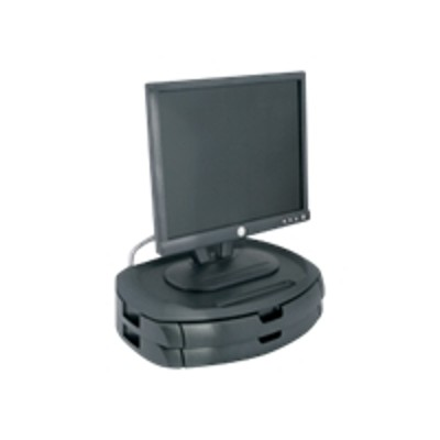 Kantek MS200B LCD Monitor Stand with Two Drawers