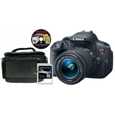 Canon 8595B003-4-KIT EOS REBEL T5I EF-S 18-55MM W/ 8GB CARD