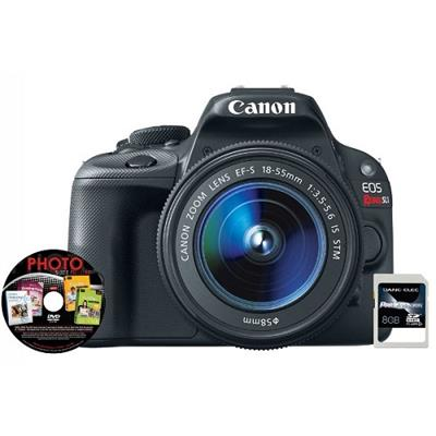 Canon 8575B003-3-KIT EOS REBEL SL1 EF-S 18-55MM IS WITH 8GB