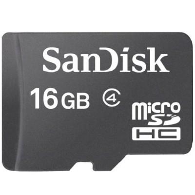 Sandisk SDSDQ-016G-A46 16GB Standard microSD Flash Memory Card
