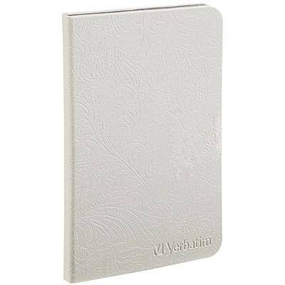 Verbatim 98080 Folio Case with LED light for Kindle - Pearl White