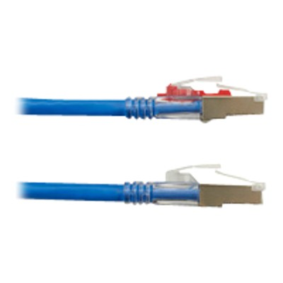Black Box C6APC80S-BL-15 GigaTrue 3 - Patch cable - RJ-45 (M) to RJ-45 (M) - 15 ft - foiled unshielded twisted pair (F/UTP) - CAT 6a - booted  riser - blue