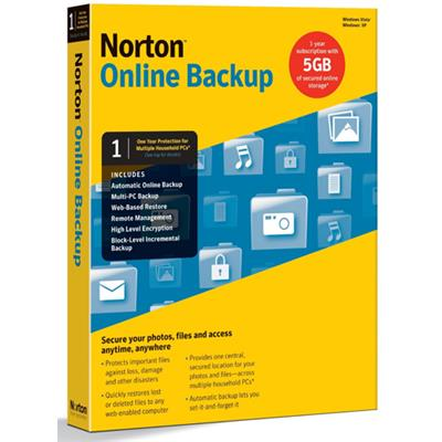 Symantec 21290181 ESD Norton Online Backup 5GB Electronic Software Download Version