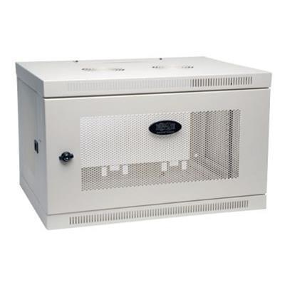 TrippLite SRW6UW 6U Wall Mount Rack Enclosure Cabinet Wallmount with Doors & Sides 200lb Capacity White