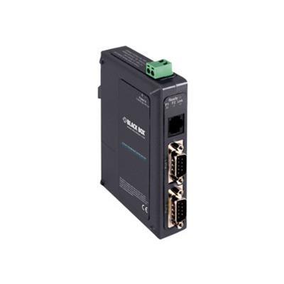 Black Box LES422A Hardened Serial Server - Device server - 10Mb LAN  100Mb LAN  RS-232  RS-422  RS-485 - rail mountable