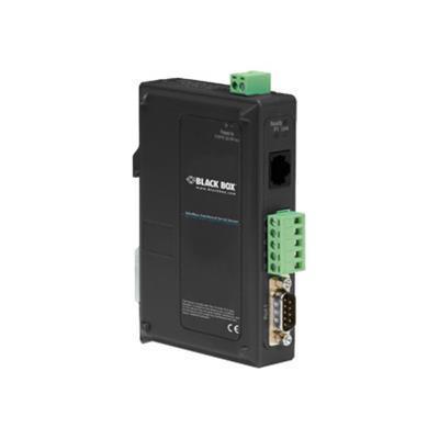 Black Box LES431A Modbus Hardened Serial Server - Device server - 10Mb LAN  100Mb LAN  RS-232  RS-422  RS-485  Modbus - rail mountable