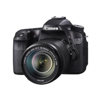Canon 8469B016 EOS 70D - Digital camera - SLR - 20.2 MP - APS-C - 1080p - 7.5x optical zoom EF-S 18-135mm IS STM lens - Wi-Fi