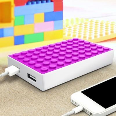 MOTA BLOCK-PINK 4000 Mah Power Block Dual Charger - Pink 9729977