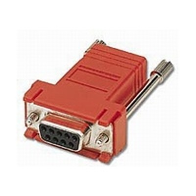 Cables To Go 02944 Modular Adapter - Serial RS-232 adapter - RJ-45 (F) to DB-9 (F) - red