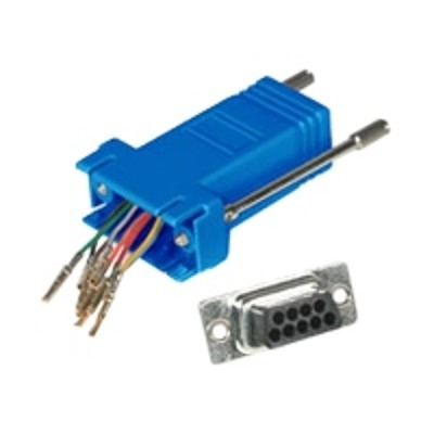 Cables To Go 02942 Modular Adapter - Serial RS-232 adapter - RJ-45 (F) to DB-9 (F) - blue