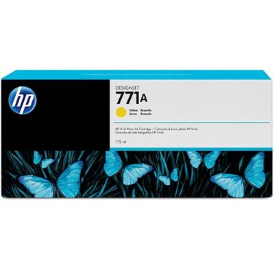 HP Inc. B6Y18A 771A - 775 ml - yellow - original - ink cartridge - for DesignJet Z6200  Z6600 Production Printer  Z6800 Photo Production Printer