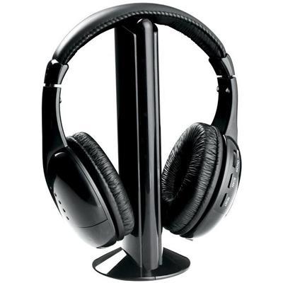Naxa Electronics NE922A Professional 5-In-1 Wireless Headphone System - Black