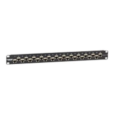 Black Box C6AFP70S-24 CAT6a - Patch panel - 1U - 19 - 24 ports