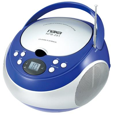 Naxa Electronics NPB251BL NAXA NPB251BL PORTABLE CD PLAYER WITH A