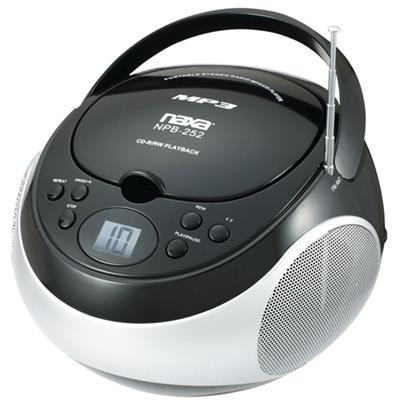 Naxa Electronics NPB252BK NAXA NPB252BK PORTABLE CD/MP3 PLAYER WI