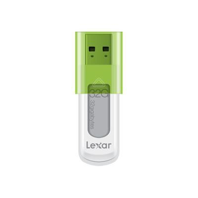Lexar Media LJDS50-32GABNL JumpDrive S50 - USB flash drive - 32 GB - USB 2.0 - green
