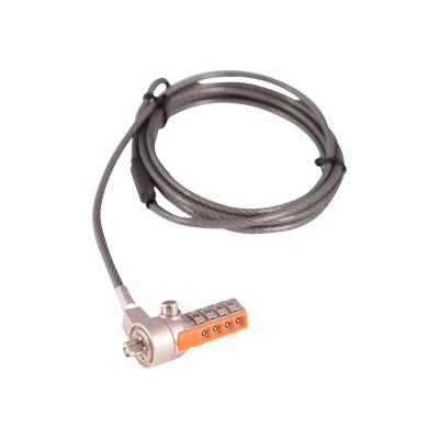 V7 SLC4000-13NB Portable Security Cable with Combo Lock - 2 meter
