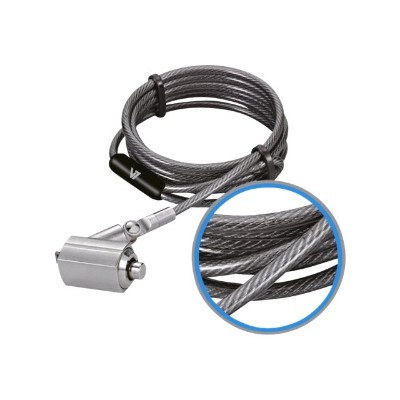 V7 SLK4000-13NB Portable Security Cable with Key Lock