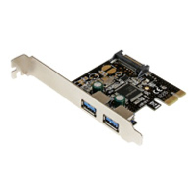 StarTech.com PEXUSB3S23 2 Port PCI Express PCIe SuperSpeed USB 3.0 Controller Card w/ SATA Power - Dual Port PCI Express USB 3 Adapter