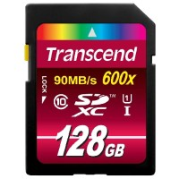 Transcend Ultimate series - flash memory card - 128 GB - SDXC UHS-I