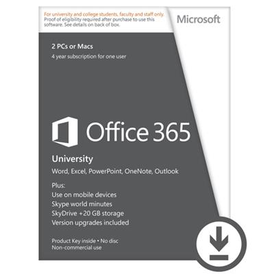 Microsoft R4T-00009-ESD Office 365 University Mac/Win (Electronic Software Download Version)