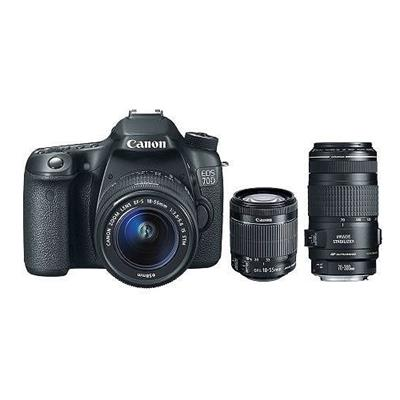 Canon 8469B009L2-KIT EOS 70D CAMERA W/ EF-S 18-55MM IS AND E