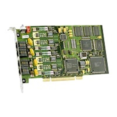 Dialogic 310-942 JCT Media Board D4PCIUFEQEU - Loop start interface board - PCI - analog ports: 4