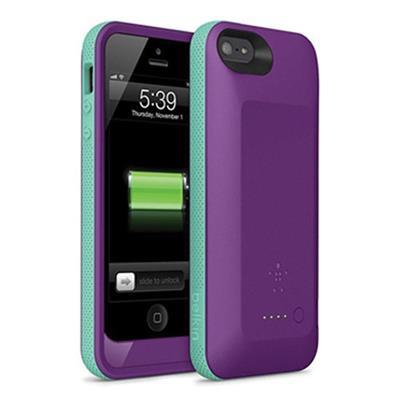 Belkin F8W292ttC03 Grip Power Battery Case for iPhone 5 purple/blue