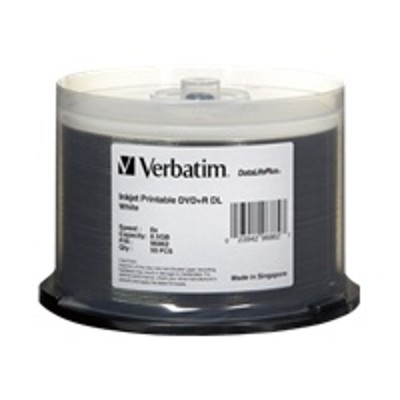 Verbatim 98319 50PK DVD+R DL 8X 8.5GB INKJET