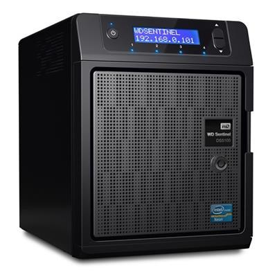 WD WDBYVE0080KBK-NESN Sentinel DS5100 8TB Ultra-Compact Storage Plus Server with Windows Server 2012 R2 Essentials