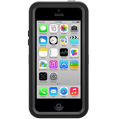 Defender Series Hybrid Case & Holster for iPhone 5c - Black