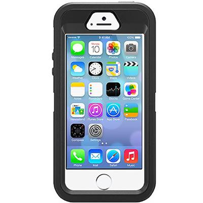 Defender Series Hybrid Case & Holster for iPhone 5 & 5s - Black