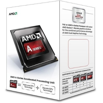 Advanced Micro Devices AD6300OKHLBOX Dual-Core A4-6300 3.70GHz Socket FM2 Boxed Processor