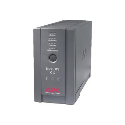 APC BK500BLK Back-UPS CS 500 - UPS - AC 120 V - 300 Watt - 500 VA - output connectors: 6 - black