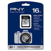 PNY 16GB High Performance Secure Digital High Capacity (SDHC) Class 10 Memory Card