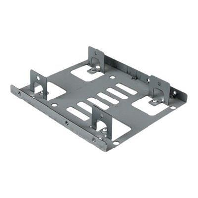 StarTech.com BRACKET25X2 Dual 2.5 SATA Hard Drive to 3.5 Bay Mounting Bracket - 2.5 to 3.5 Hard Drive Mounting Bracket with SATA cabling