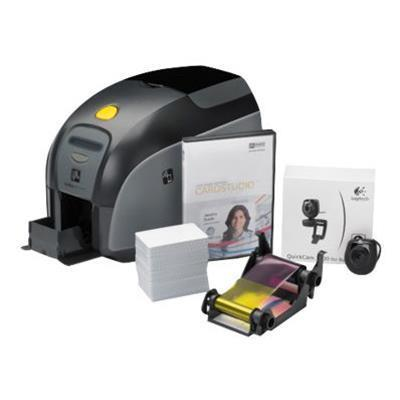 Zebra Tech Z11-0000B000US00 ZXP Series 1 QuikCard ID Solution - Plastic card printer - color - dye sublimation - CR-80 Card (3.37 in x 2.13 in) - 300 dpi - up t