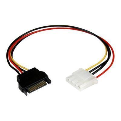 StarTech.com LP4SATAFM12 12in SATA to Molex LP4 Power Cable Adapter - F/M - Power adapter - 4 pin internal power (F) to SATA power (M) - 1 ft