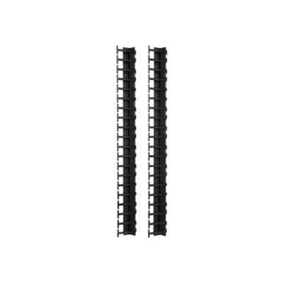 APC AR7721 Rack cable management panel - black - 42U (pack of 2) - for NetShelter SX