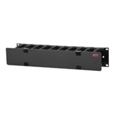 APC AR8600A Horizontal Cable Manager Single-Sided with Cover - Rack cable management kit - black - 2U - 19 - for Smart-UPS X 3000VA Short Depth Tower/Rack LCD