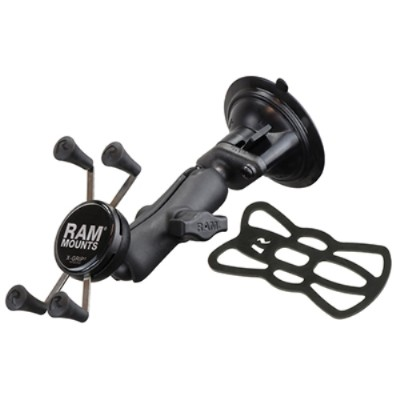 RAM Mounts RAP-B-166-UN7U RAM Composite Twist Lock Suction Cup Mount with Universal X-Grip (Patented) Cell Phone Cradle
