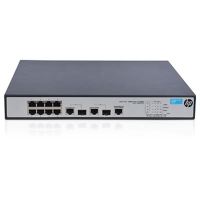 Hewlett Packard Enterprise JG537A#ABA 8-Port PoE+ Fast Ethernet Advanced Smart Managed Switch with 62W of PoE Power