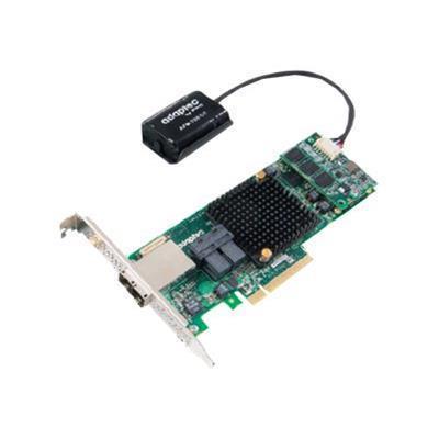 Adaptec 2277100-R 8885Q - Storage controller (RAID) - 16 Channel - SATA 6Gb/s / SAS 12Gb/s low profile - 1.2 GBps - RAID 0  1  5  6  10  50  1E  60 - PCIe 3.0 x