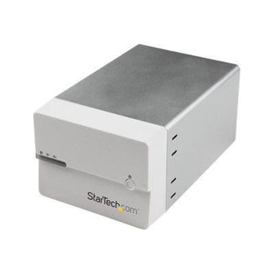 StarTech.com S3520WU33ER USB 3 eSATA Dual 3.5 SATA III HDD RAID Enclosure UASP - Hard drive array - 2 bays ( SATA-600 ) - USB 3.0  SATA 6Gb/s (external)