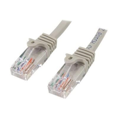 StarTech.com 45PATCH15GR 15 ft. Gray Snagless Cat. 5e 350 MHz UTP Patch Cable