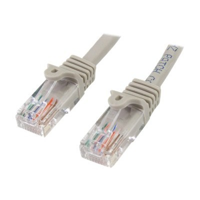 StarTech.com 45PATCH25GR 25 ft. Gray Snagless Cat. 5e 350 MHz UTP Patch Cable